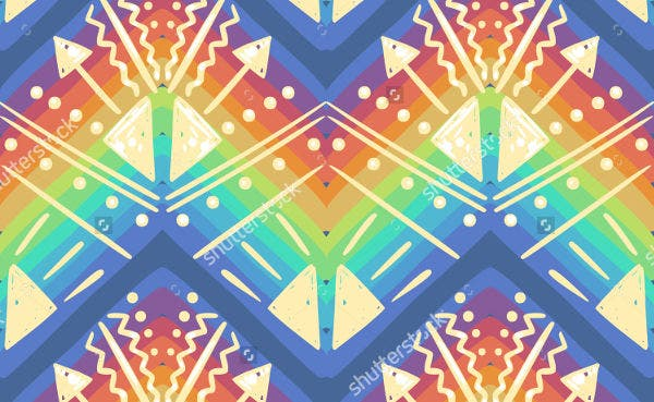 psychedelic rainbow pattern