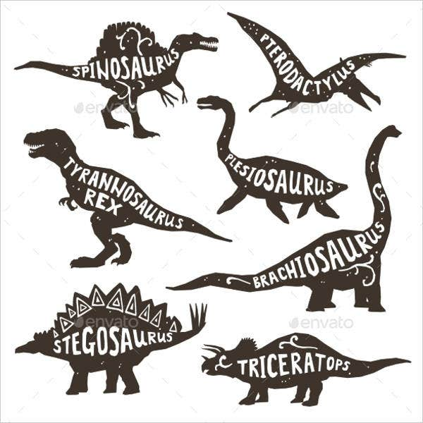 black-and-white-dinosaur-silhouette