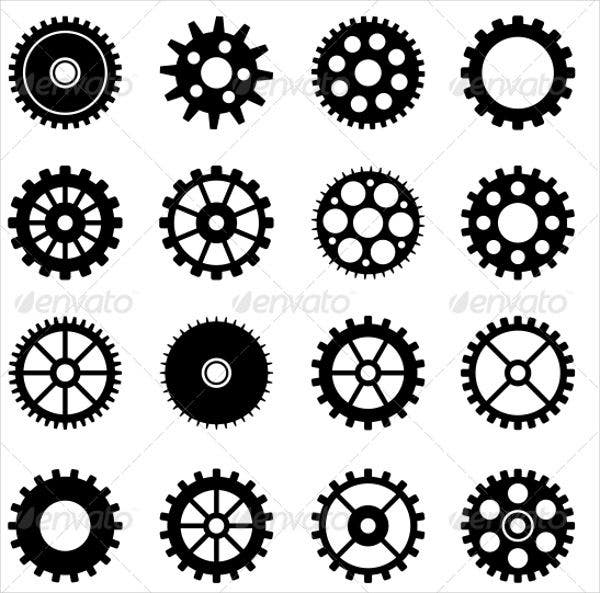 gear-wheel-icons