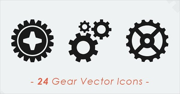 vector gear icons