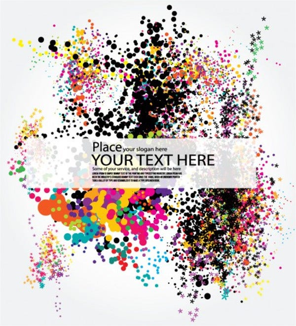 color splatter vector