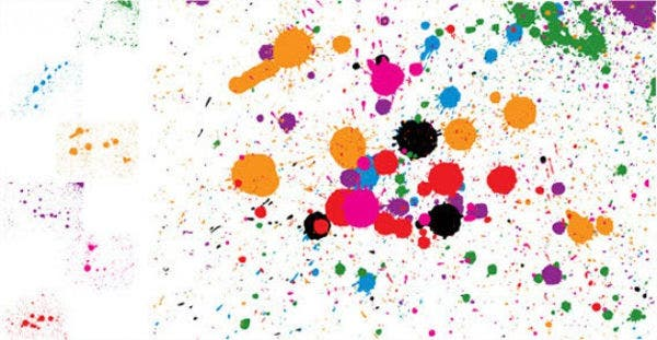 spray splatter vector