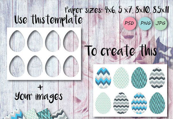 egg shape template