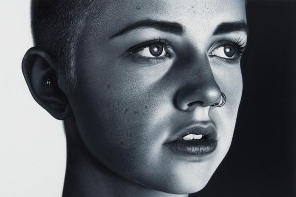 photorealistic portrait painting