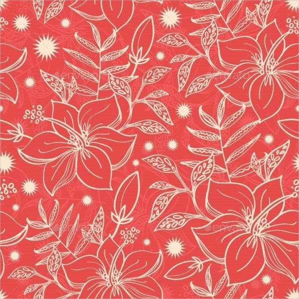 floral-red-vector
