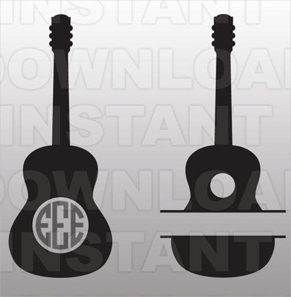vector guitar template