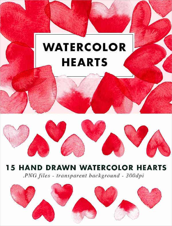 watercolor valentines day patterns