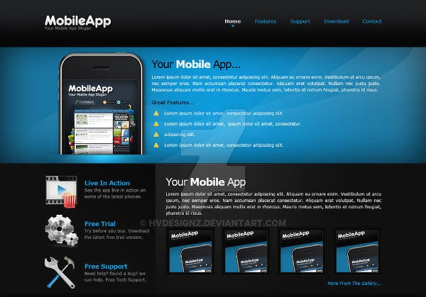 mobile-app-website-template