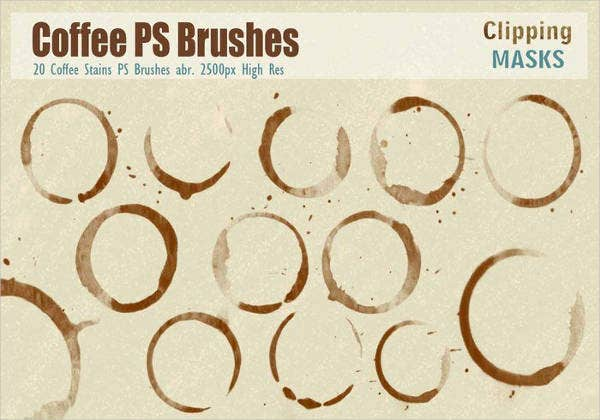 free-coffee-stain-ps-brush