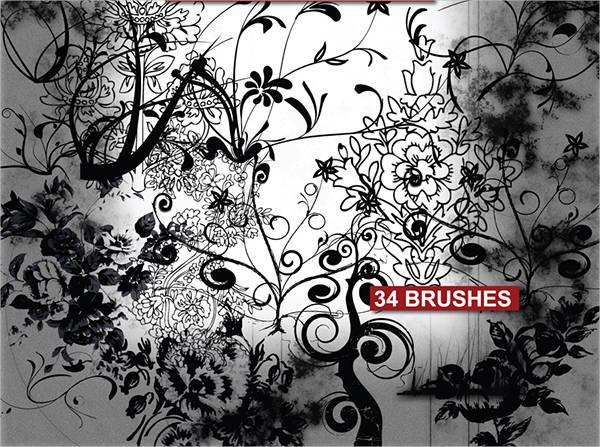 free-ornament-photoshop-brushes