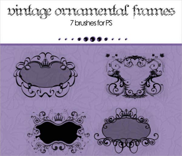 ornament frame brushes photoshop