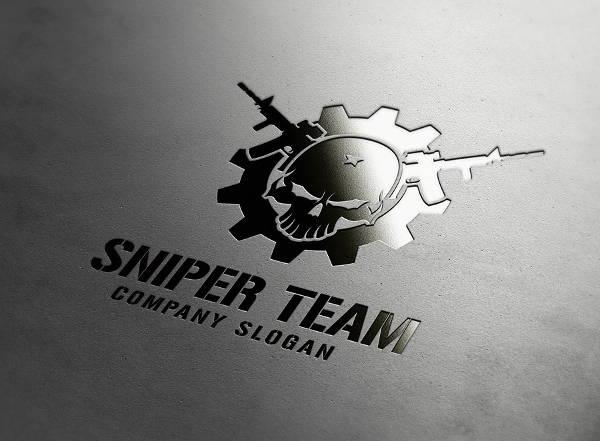 9+ Sniper Logos - Printable PSD, AI, Vector EPS Format Download ...