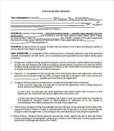 Assignment Agreement Template   Free Word Pdf Format Download