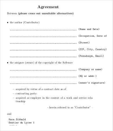 Ignment Agreement Template | 9 Assignment Agreement Templates Word Pdf Pages Free