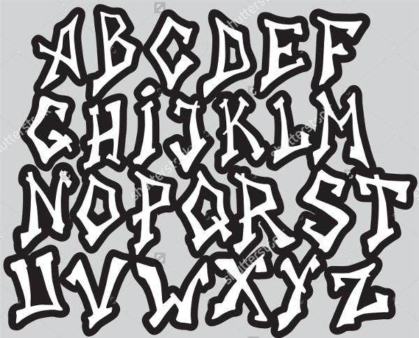 8 graffiti alphabet letters free psd vector eps format download