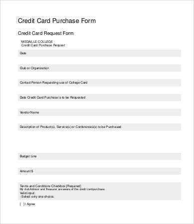 Credit Card Request Form Template  PetitComingoutpolyCo