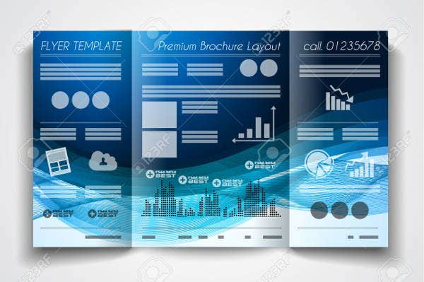 vector trifold template