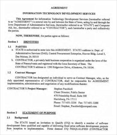 Information Technology Development Agreement