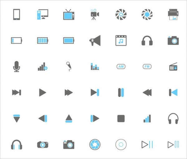 audio and video icons1