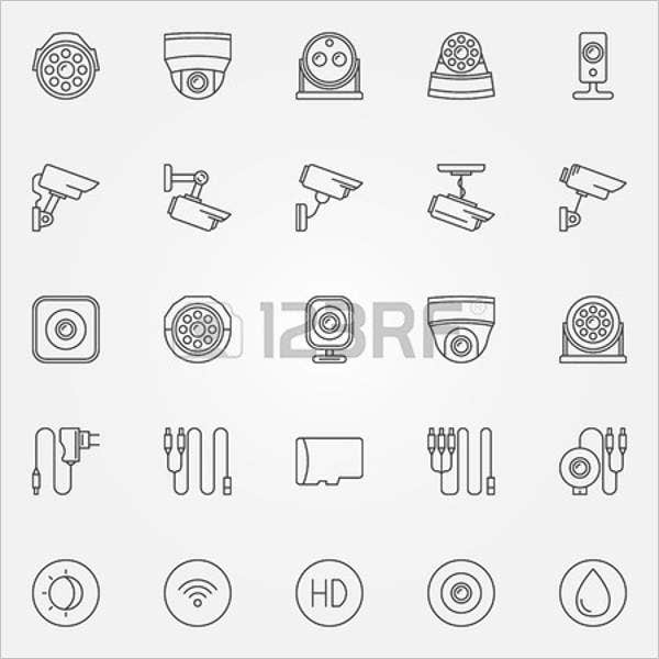 video surveillance icons1