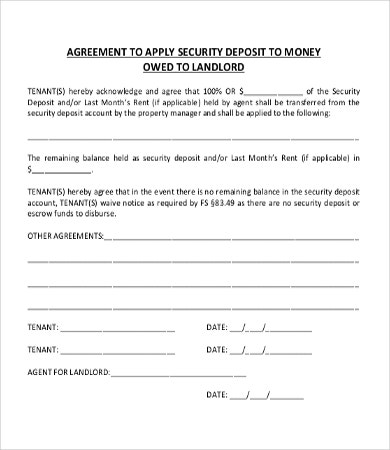 Money Owed Agreement Template