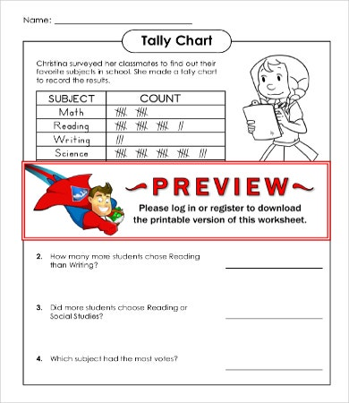 Free Tally Chart Template