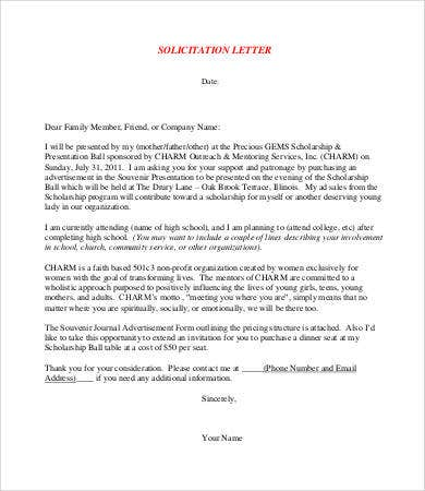 Solicitation letter template 7 free pdf format download free free solicitation letter template altavistaventures Image collections