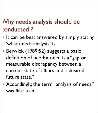 need analysis template