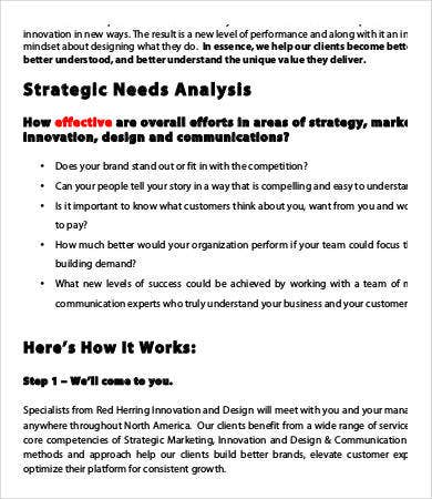 Sample needs analysis templates 9 free sample example format strategic needs analysis template fbccfo Images