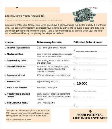 Sample Needs Analysis Templates   Free Sample Example Format