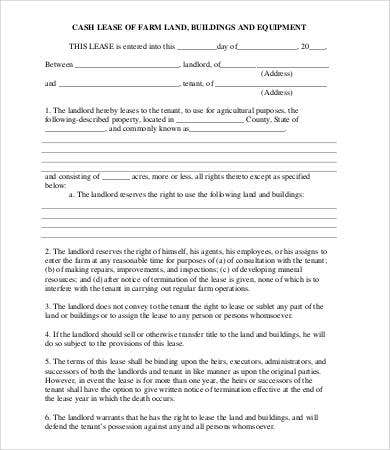 Land lease agreement template 13 free word pdf for Farm partnership agreement template