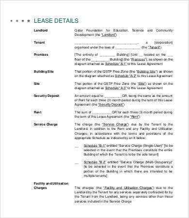 Land Lease Agreement Template For Parking  Free Lease Agreements Templates