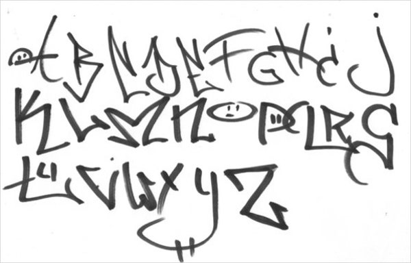 graffiti tagging letters
