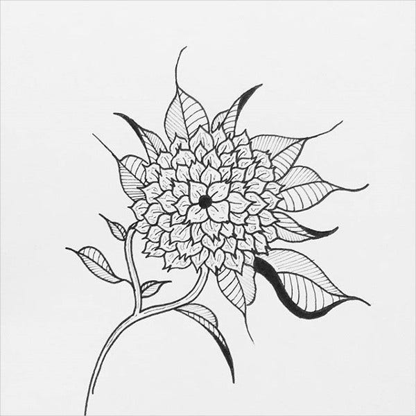Black And White Tattoo Design