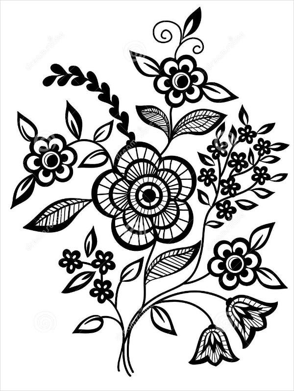 black-and-white-flower-design