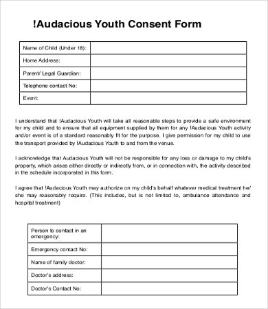 parent consent form template | datariouruguay