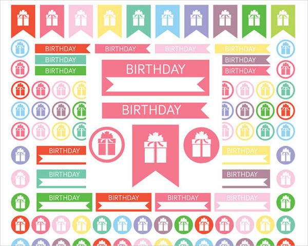 birthday printable stickers