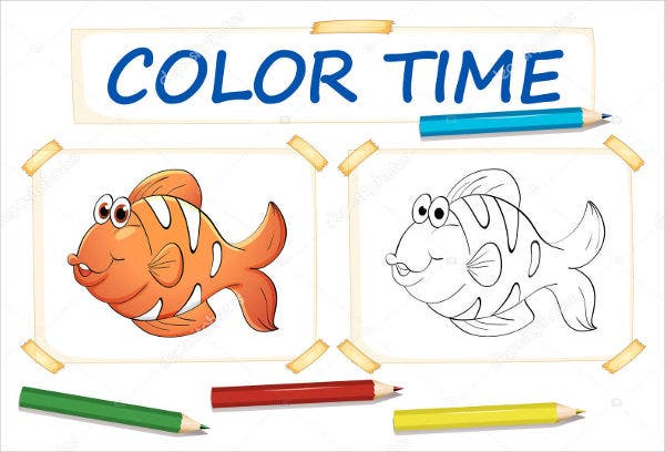 Fish Coloring Template
