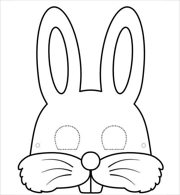 9 bunny templates pdf doc free premium templates for Dog mask template for kids