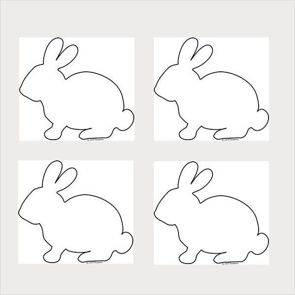 picture about Bunny Outline Printable named 9+ Bunny Templates - PDF, Document Cost-free Top quality Templates