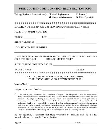 donation form template 8 free word pdf documents download free
