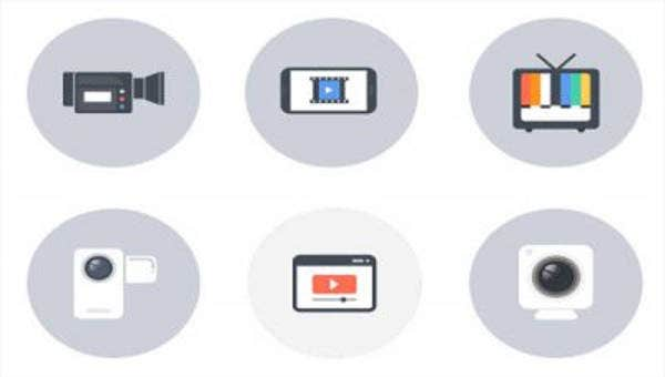 set of video icons2