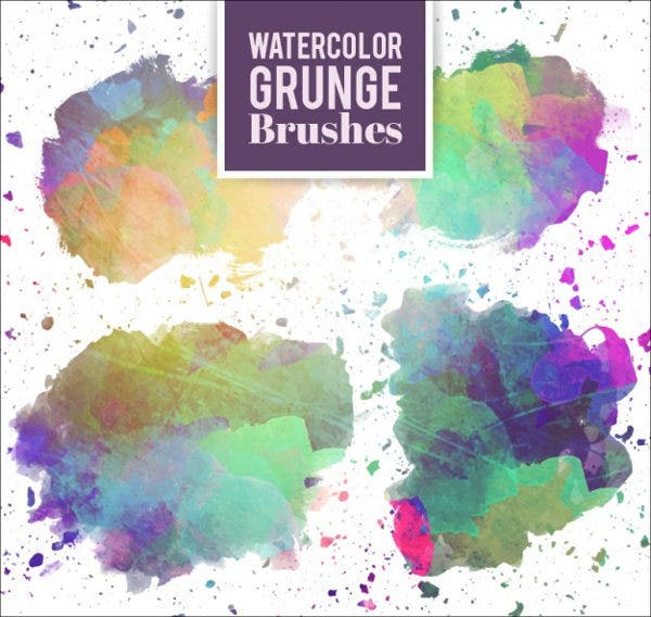 grunge watercolor brushes