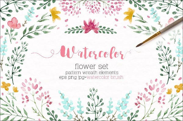 Watercolor floral Brushes