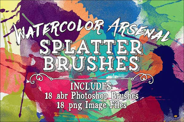 Watercolor splatter Brushes
