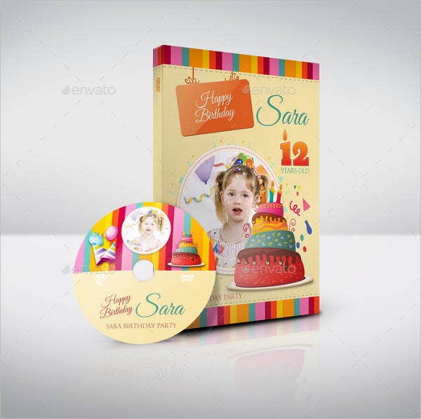 Birthday CD Label Template