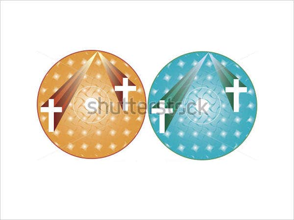 church cd label template