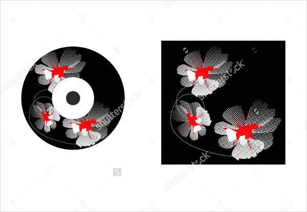 creative vector cd label template