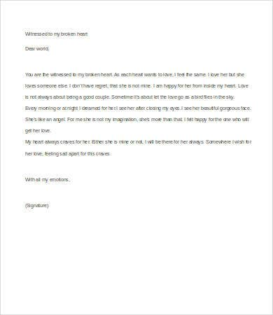 Letter To Boyfriend 7 Free Word Documents Download Free