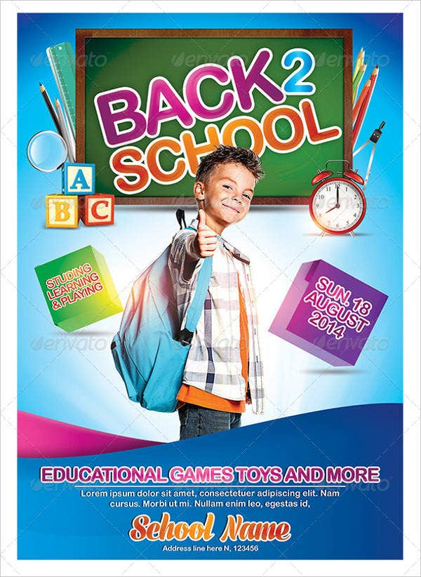 Kids School Poster Template